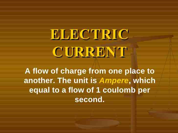 electric, current